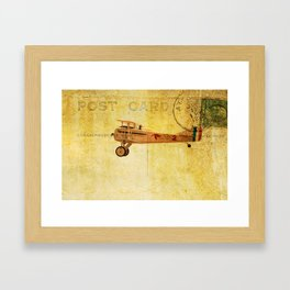 Vintage Flight Framed Art Print