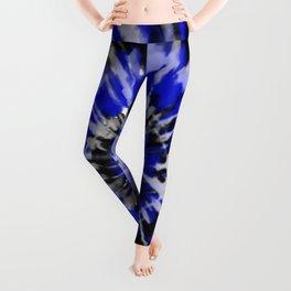 Dark Blue Tie Dye Leggings