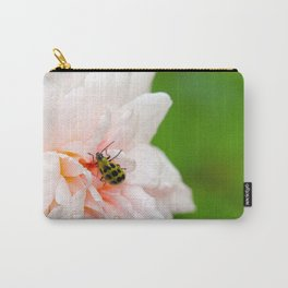Cucumber Beetle & Winter Rose Carry-All Pouch
