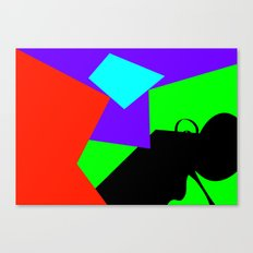 Black Flying Canvas Print