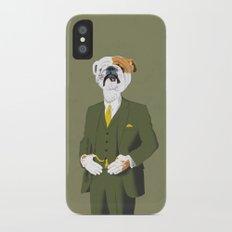English Bulldog iPhone X Slim Case