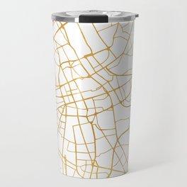 WARSAW POLAND CITY STREET MAP ART Travel Mug