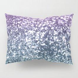 Aqua Purple Ombre Glitter #4 #decor #art #society6 Pillow Sham