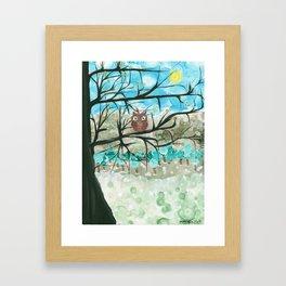 Owl Artwork By MiMi Stirn - Owl Seasons -  Winter #344 Framed Art Print