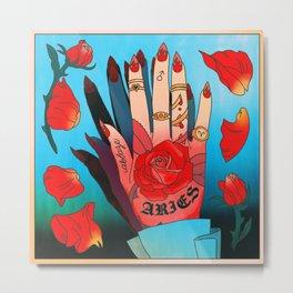 Aries Hand Metal Print