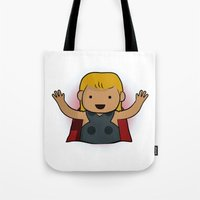 thor Tote Bags featuring Thor by Joe Bidmead