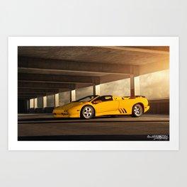 Lamborghini Diablo VT Roadster Art Print
