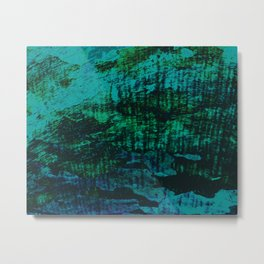 Flora Celeste Kyanite Aqua Aura Tree Texture  Metal Print