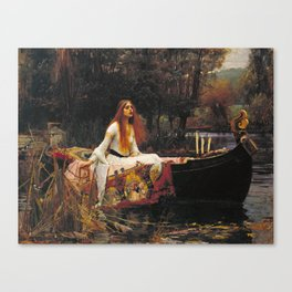 John William Waterhouse - The lady of shalott Canvas Print