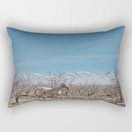 white horse Bolivia Rectangular Pillow