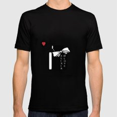 An elixir of love . White background . MEDIUM Mens Fitted Tee Black