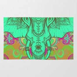 Aqua Ganesha Rug