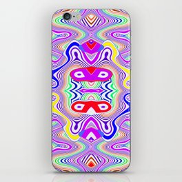 Crazy pattern, colored lines ... iPhone Skin