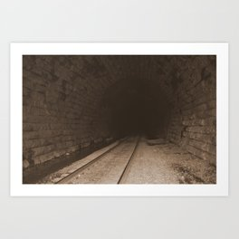 Railroad Tunnel Art Print