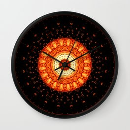 Mandala happy helloween Wall Clock
