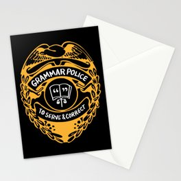 Grammar Police To Serve And Correct Stationery Cards