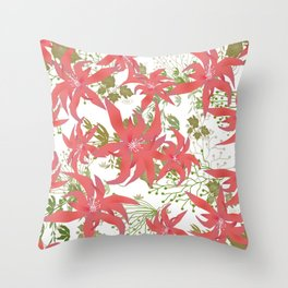 Coral flowers 70 Throw Pillow