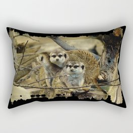 African Meerkat Trio Rectangular Pillow