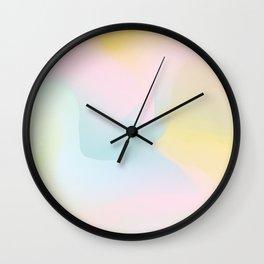 Mushy Mush in Pastels Wall Clock