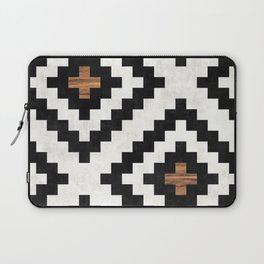 Urban Tribal Pattern No.16 - Aztec - Concrete and Wood Laptop Sleeve