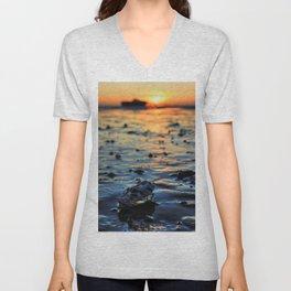 Clam Sunset Unisex V-Neck