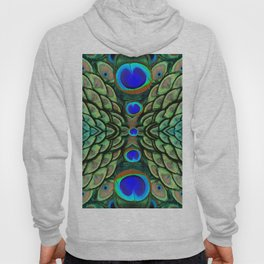 Green-Blue Peacock Feathers Art Patterns Hoody