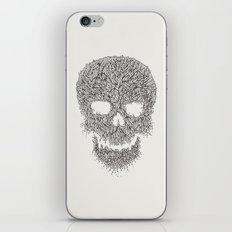 Grey Skull Illustration iPhone & iPod Skin