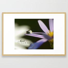 God is in the Details (macro drop) Framed Art Print