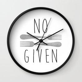 No Forks Given Wall Clock