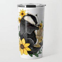 Hufflepuff Crest Travel Mug
