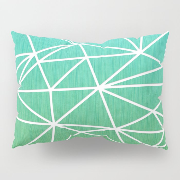 Abstract geometric | green & turquoise Pillow Sham