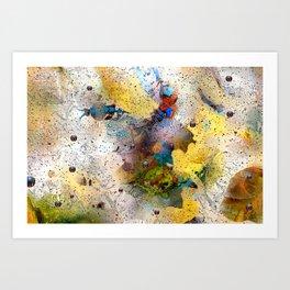 Absract Yellow 332 Art Print