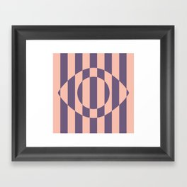 Eye Illusion Framed Art Print
