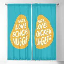 Peace, Love & Chicken Nuggets Blackout Curtain