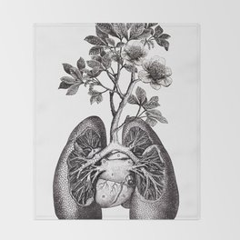 Flourishing Lungs Throw Blanket