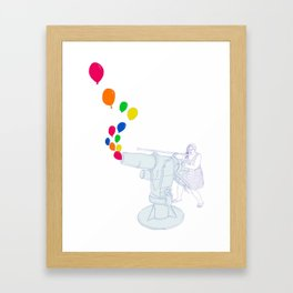 Balloon Cannon Framed Art Print