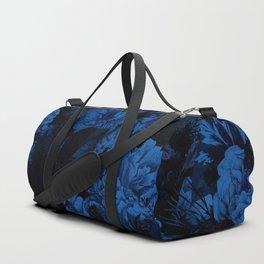 winter flowers seamless pattern 01 big dark blue Duffle Bag