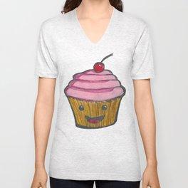 Happy Cupcake Unisex V-Neck