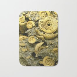 Fossils - Ammonite - Coiled Cephalopods  Bath Mat