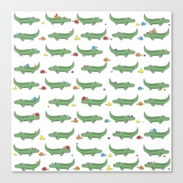 Alligator, Snail and Turtle Party - Children - 57 Montgomery Ave Canvas Print