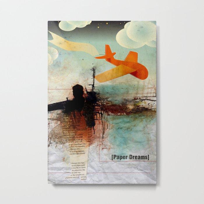 Paper Dreams Metal Print
