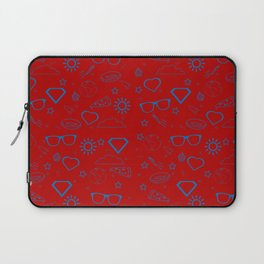 Supergirl/Kara's pattern - blue Laptop Sleeve