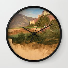 Castle From Salzburg, Austria - Digital Remastered Edition Wall Clock
