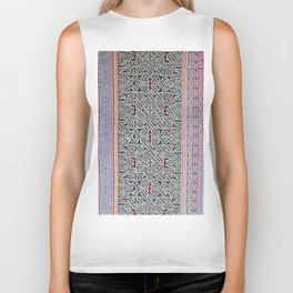 Song to Bring Blessings to a Marriage - Traditional Shipibo Art - Indigenous Ayahuasca Patterns Biker Tank