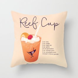 Reef Cup Throw Pillow
