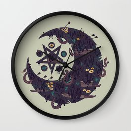 The Dark Moon Compels You to Fuck Shit Up Wall Clock