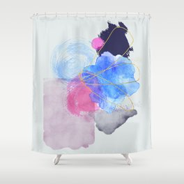 Delicate abstract forms painting Shower Curtain