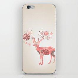 Flower deer iPhone Skin