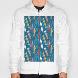 Colorful Ski Pattern Hoody