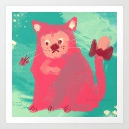 Rag Cat Art Print
